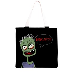 Halloween zombie Grocery Light Tote Bag