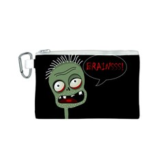 Halloween zombie Canvas Cosmetic Bag (S)