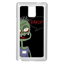 Halloween zombie Samsung Galaxy Note 4 Case (White)