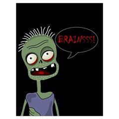 Halloween zombie Drawstring Bag (Large)
