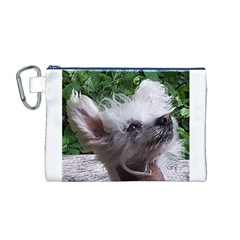 Chinese Crested Canvas Cosmetic Bag (M)