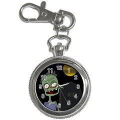 Halloween zombie on the cemetery Key Chain Watches