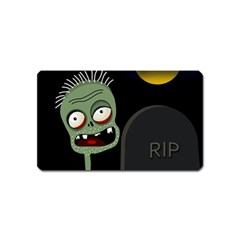 Halloween zombie on the cemetery Magnet (Name Card)