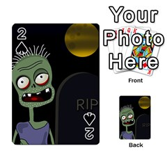 Halloween zombie on the cemetery Playing Cards 54 Designs