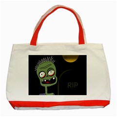 Halloween zombie on the cemetery Classic Tote Bag (Red)