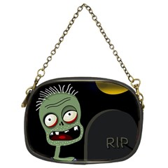 Halloween zombie on the cemetery Chain Purses (Two Sides)