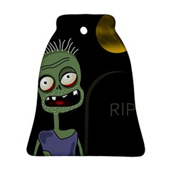 Halloween zombie on the cemetery Ornament (Bell)