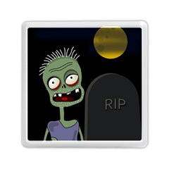 Halloween zombie on the cemetery Memory Card Reader (Square)