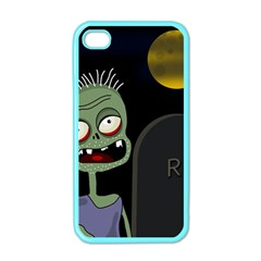 Halloween zombie on the cemetery Apple iPhone 4 Case (Color)