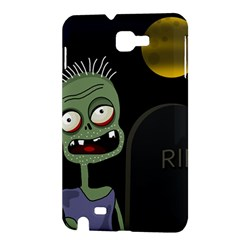 Halloween zombie on the cemetery Samsung Galaxy Note 1 Hardshell Case