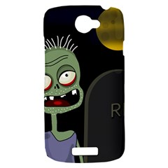 Halloween zombie on the cemetery HTC One S Hardshell Case