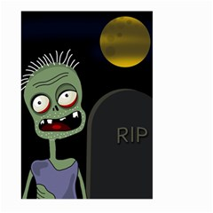 Halloween zombie on the cemetery Large Garden Flag (Two Sides)