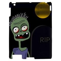 Halloween zombie on the cemetery Apple iPad 2 Hardshell Case