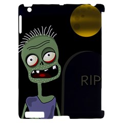 Halloween zombie on the cemetery Apple iPad 2 Hardshell Case (Compatible with Smart Cover)