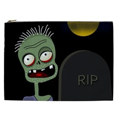 Halloween zombie on the cemetery Cosmetic Bag (XXL)