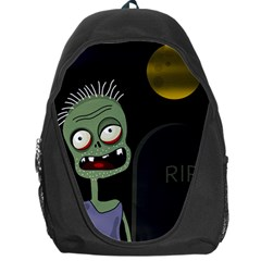 Halloween zombie on the cemetery Backpack Bag