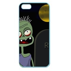 Halloween zombie on the cemetery Apple Seamless iPhone 5 Case (Color)