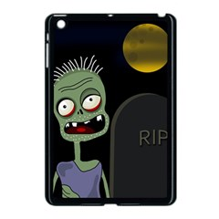 Halloween zombie on the cemetery Apple iPad Mini Case (Black)