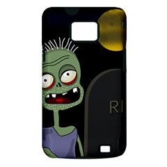 Halloween zombie on the cemetery Samsung Galaxy S II i9100 Hardshell Case (PC+Silicone)