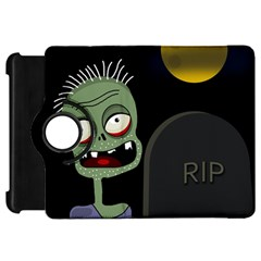 Halloween zombie on the cemetery Kindle Fire HD Flip 360 Case
