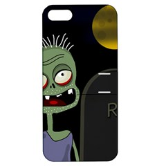 Halloween zombie on the cemetery Apple iPhone 5 Hardshell Case with Stand