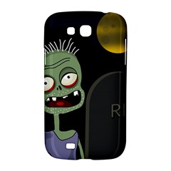 Halloween zombie on the cemetery Samsung Galaxy Grand GT-I9128 Hardshell Case