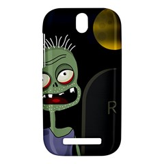 Halloween zombie on the cemetery HTC One SV Hardshell Case