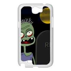Halloween zombie on the cemetery Samsung Galaxy Note 2 Case (White)