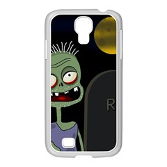 Halloween zombie on the cemetery Samsung GALAXY S4 I9500/ I9505 Case (White)