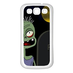 Halloween zombie on the cemetery Samsung Galaxy S3 Back Case (White)