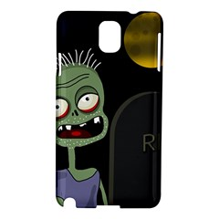 Halloween zombie on the cemetery Samsung Galaxy Note 3 N9005 Hardshell Case