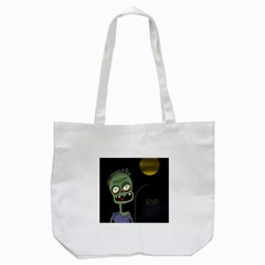 Halloween zombie on the cemetery Tote Bag (White)