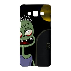 Halloween zombie on the cemetery Samsung Galaxy A5 Hardshell Case