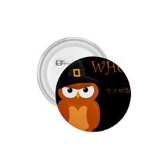Halloween witch - orange owl 1.75  Buttons