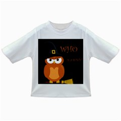 Halloween witch - orange owl Infant/Toddler T-Shirts