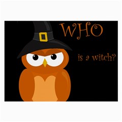 Halloween witch - orange owl Large Glasses Cloth