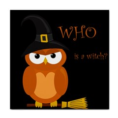 Halloween witch - orange owl Face Towel