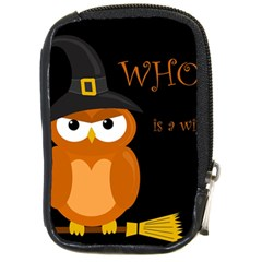 Halloween witch - orange owl Compact Camera Cases