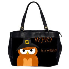 Halloween witch - orange owl Office Handbags (2 Sides)