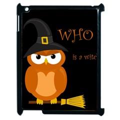 Halloween witch - orange owl Apple iPad 2 Case (Black)