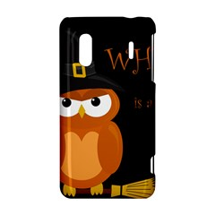 Halloween witch - orange owl HTC Evo Design 4G/ Hero S Hardshell Case