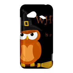 Halloween witch - orange owl HTC Droid Incredible 4G LTE Hardshell Case