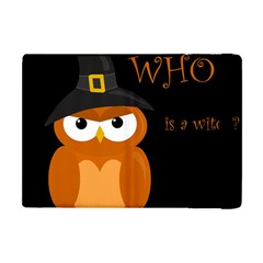 Halloween witch - orange owl Apple iPad Mini Flip Case