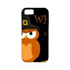 Halloween witch - orange owl Apple iPhone 5 Classic Hardshell Case (PC+Silicone)