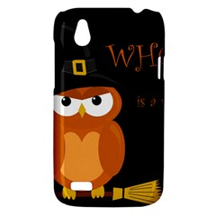 Halloween witch - orange owl HTC Desire V (T328W) Hardshell Case