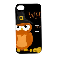 Halloween witch - orange owl Apple iPhone 4/4S Hardshell Case with Stand