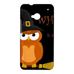 Halloween witch - orange owl HTC One M7 Hardshell Case