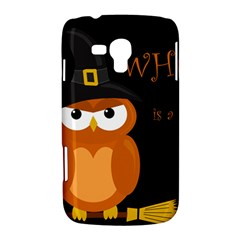 Halloween witch - orange owl Samsung Galaxy Duos I8262 Hardshell Case