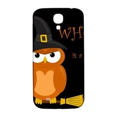 Halloween witch - orange owl Samsung Galaxy S4 I9500/I9505  Hardshell Back Case
