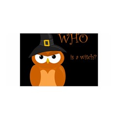 Halloween witch - orange owl Satin Wrap
